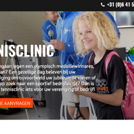 Vanaf vandaag zijn we online met onze 'Olympische Tennisclinics!' #5